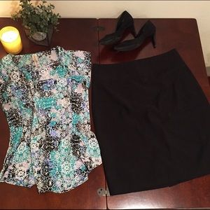 H&M Solid Pencil Skirt